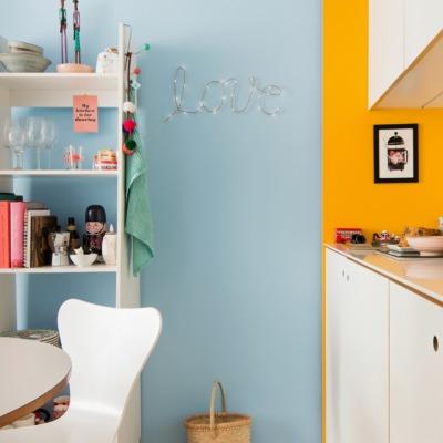 Apartamento pequeno de 35m² e colorido