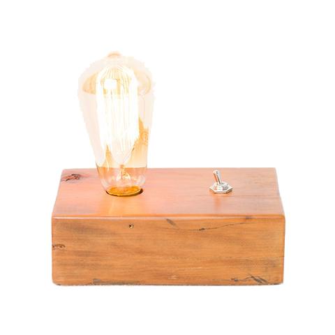 Luminária base em madeira