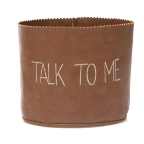 """VASO COURO """"TALK TO ME"""""""