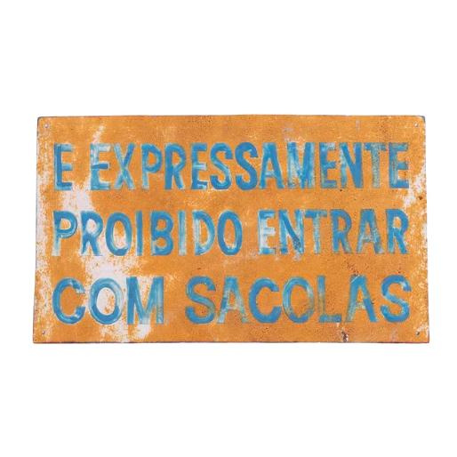 PLACA SACOLAS