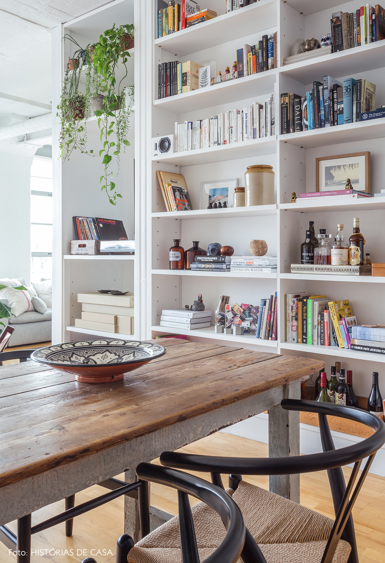 White bookcase with perfect styling