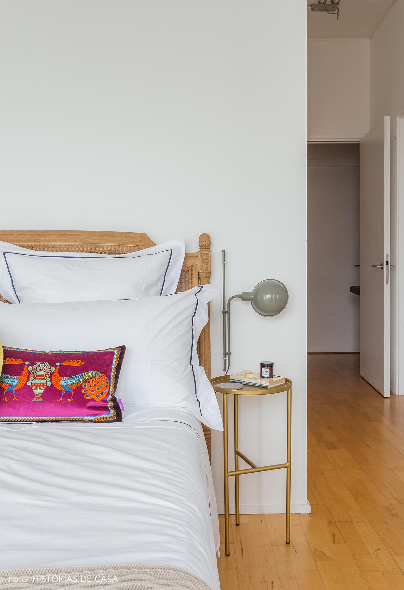 Bedroom with vintage sconces and modern furniture