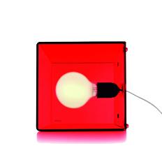 cubo vermelho transparente