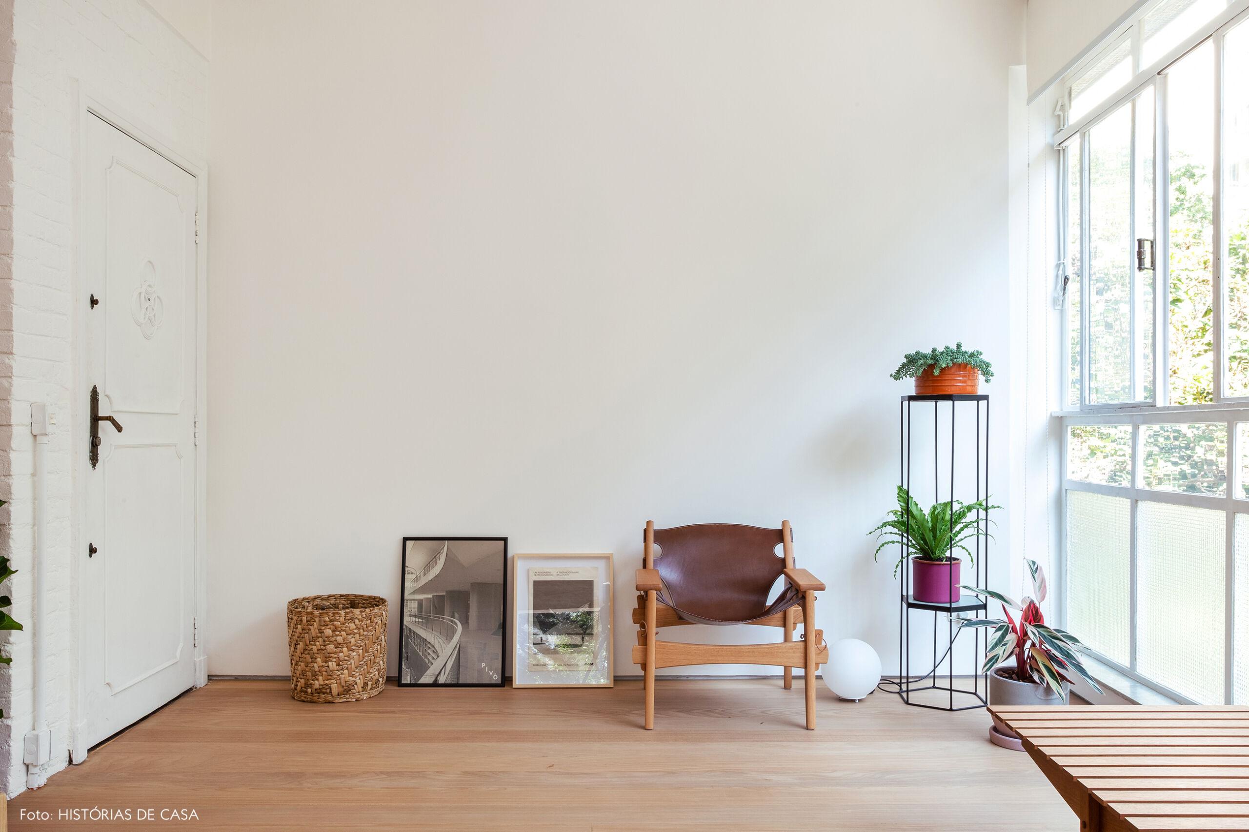 Sala de estar em apartamento reformado