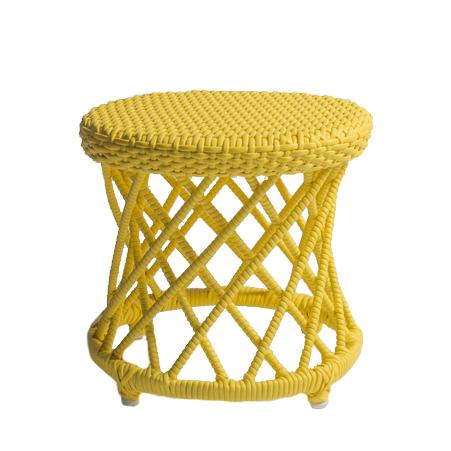 banquinho carretel – amarelo