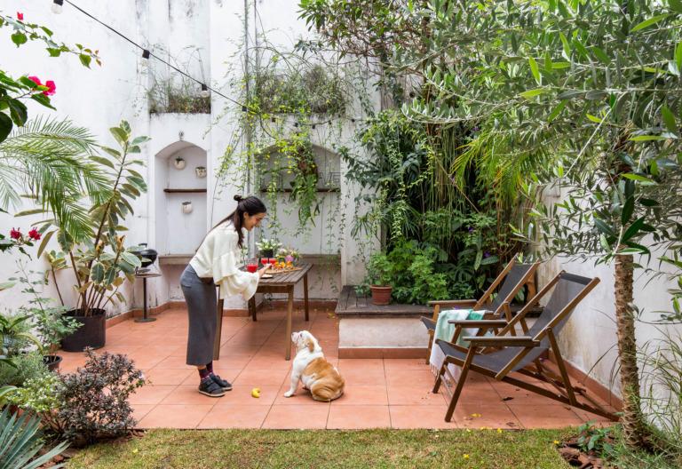 Jardim da casa do casal do FLO Atelier Botanico