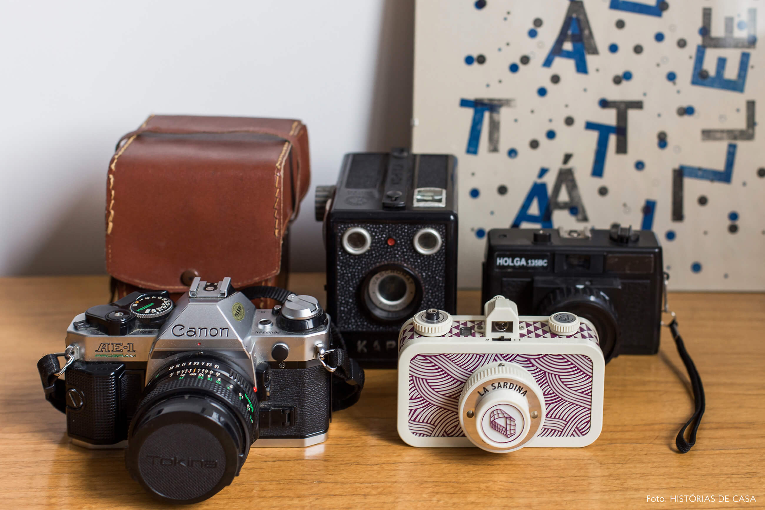 Coleção de câmeras fotográficas