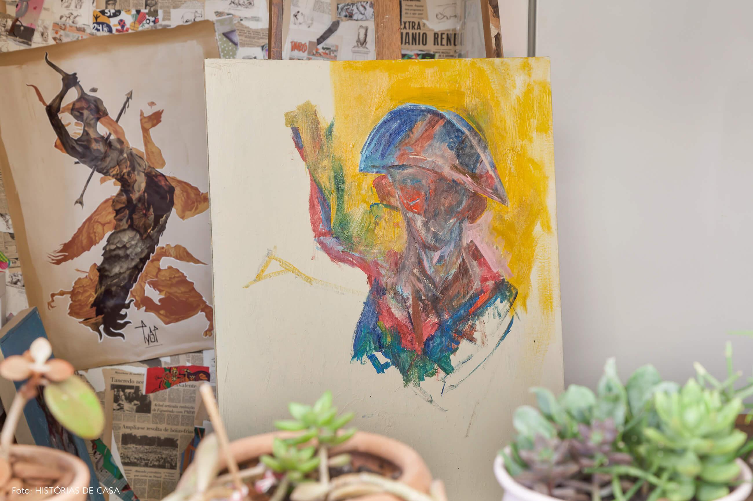 Casa com ateliê de dois artistas
