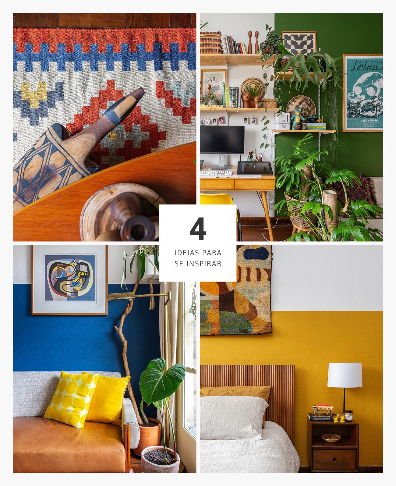 4 Boas ideias de decoração com cor