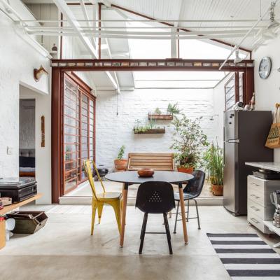 Casa com sala integrada ao terraço