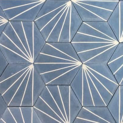 Ladrilho hexagonal modelo Sol