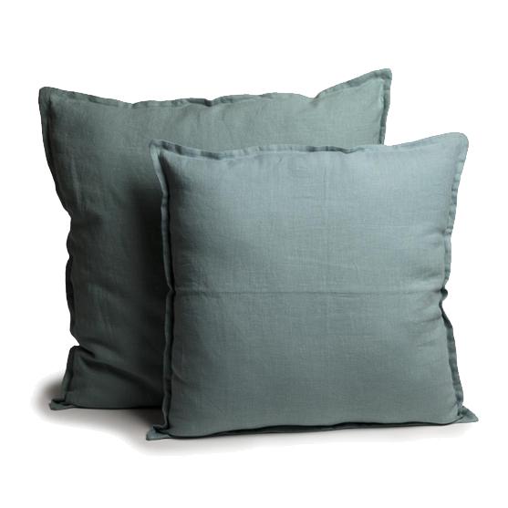 capa almofada linho tinturado celadon