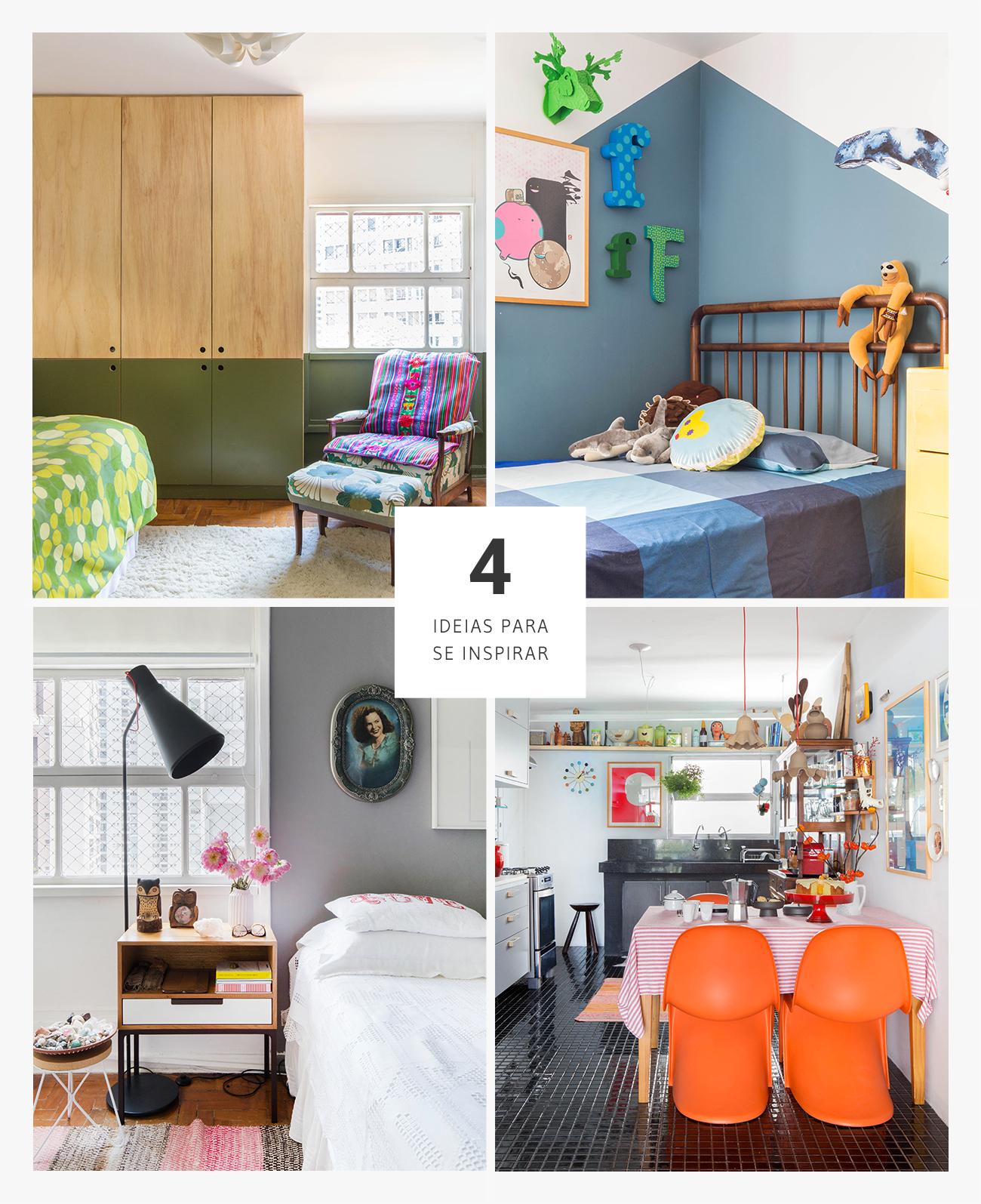 Boas ideias de decoração, casa colorida