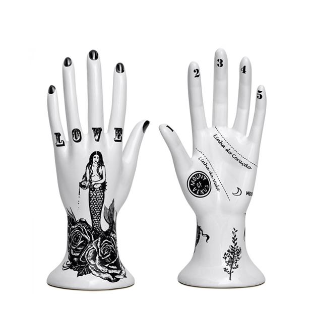 mão espalmada sereia