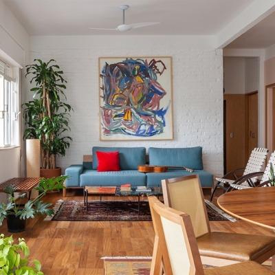 Apartamento com clima de campo e detalhes rústicos