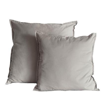 capa almofada caqui tinturado algodão