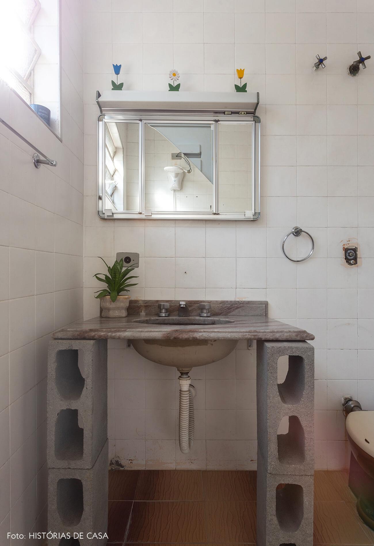 Antes e depois reforma de banheiro e obra