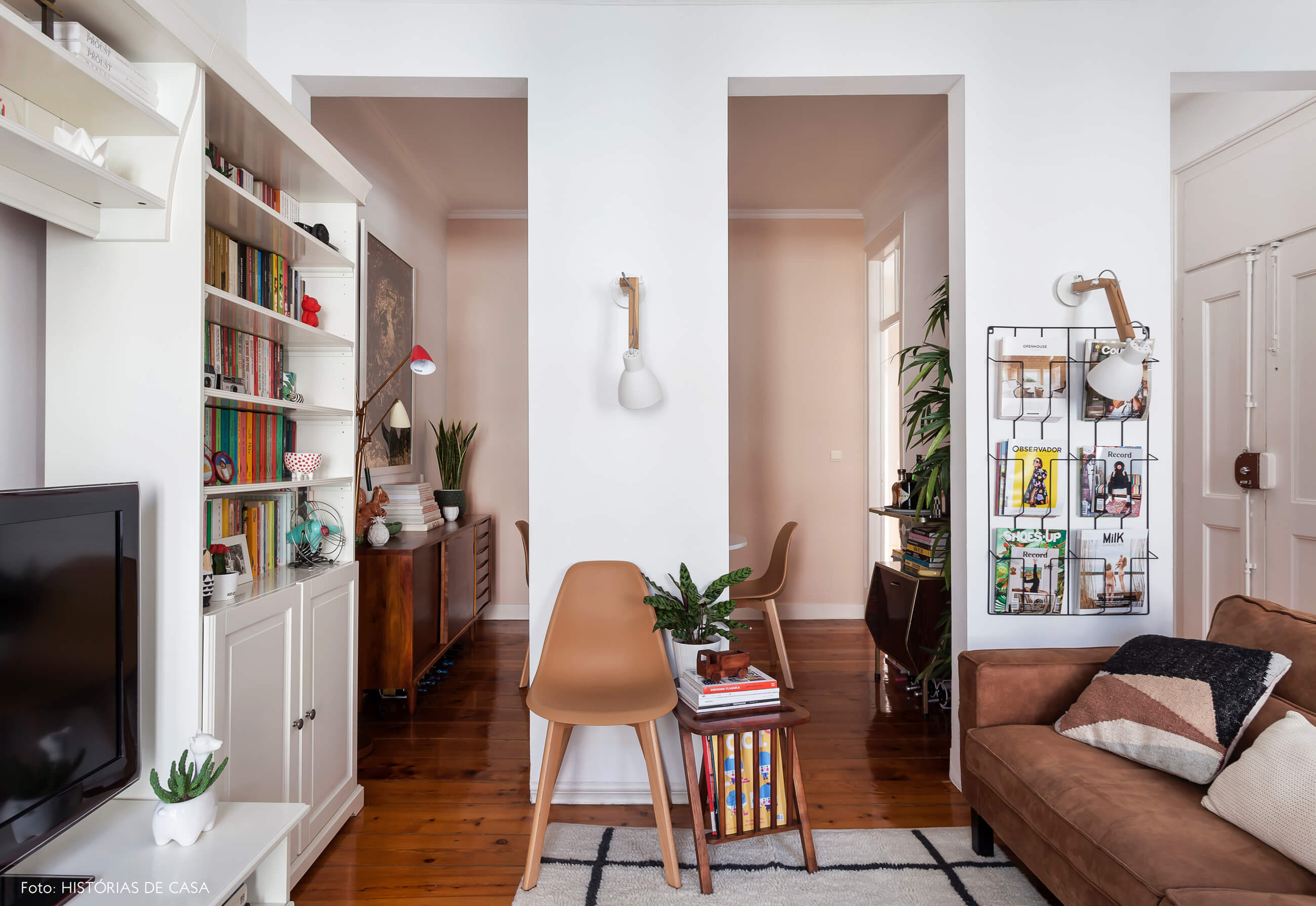 Apartamento em Portugal, sala de estar e jantar integradas