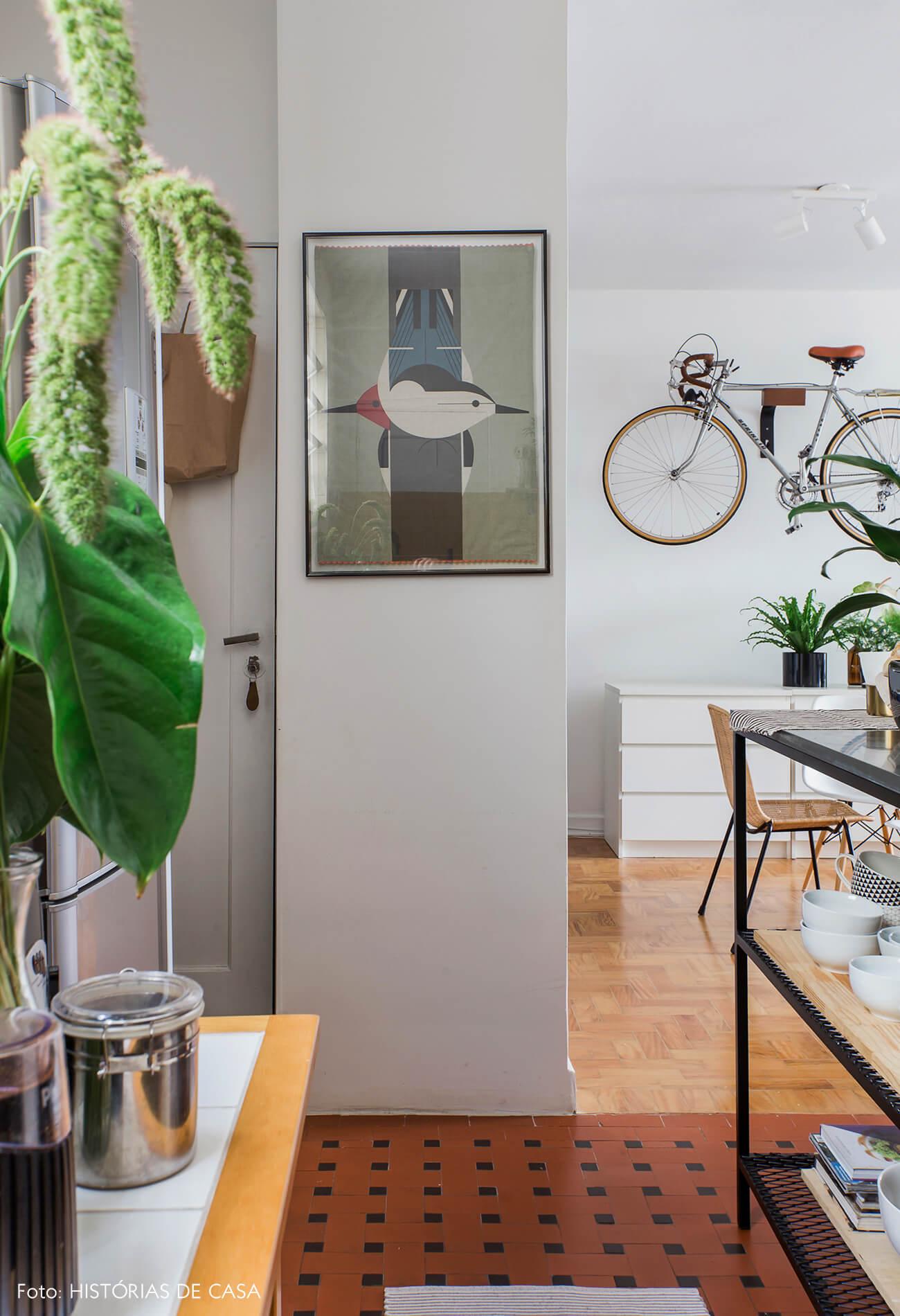 Apê alugado com cozinha de ar industrial