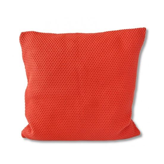 almofada tricot links tangerina