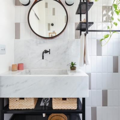 Antes e depois reforma de banheiro, decoração com estilo industrial