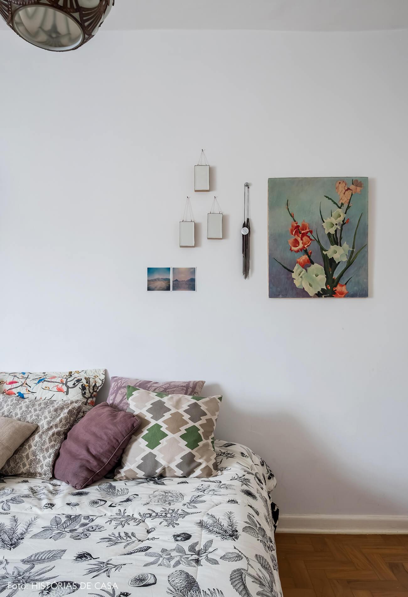 Quarto de hóspedes com decoração vintage