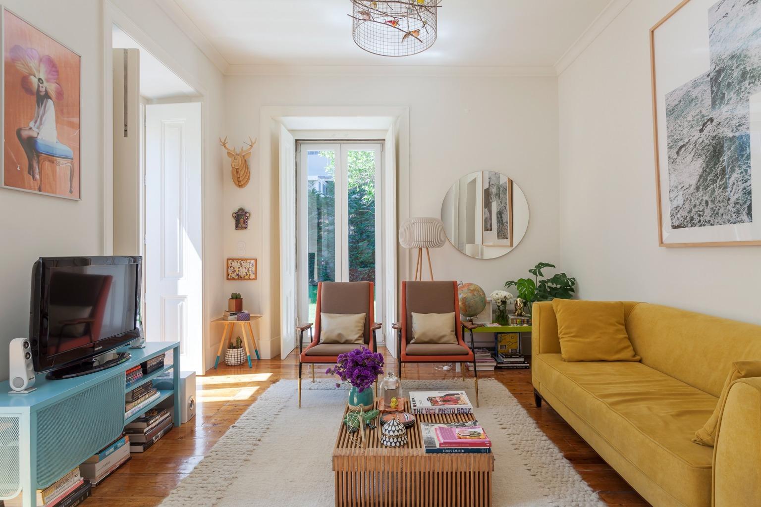 Apartamento colorido em Lisboa