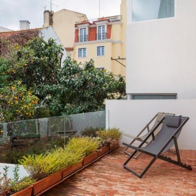 Apartamento em Lisboa com terraço e cozinha integrada