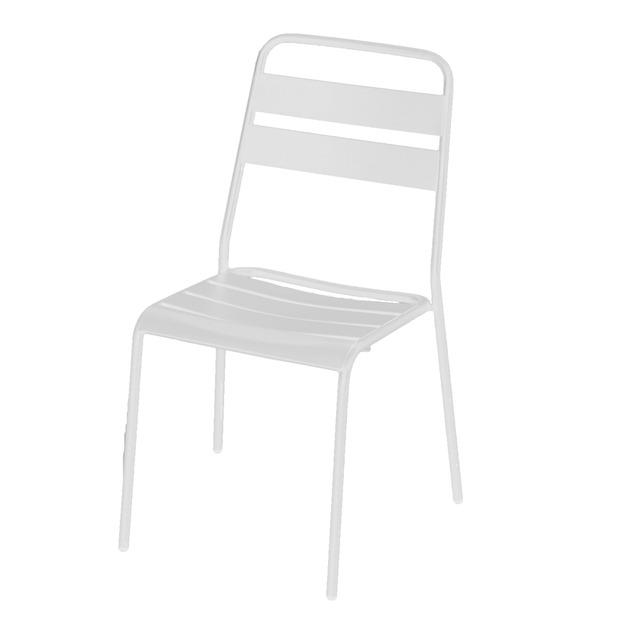 Cadeira Aço Sweet Branca 85x45cm