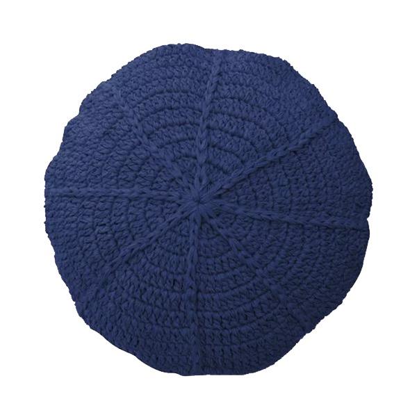 Almofada Redonda de Crochê Azul 45cm Inspire