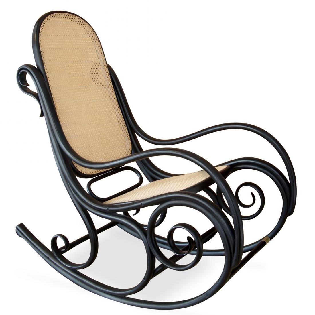 Cadeira de balanço Thonet Black