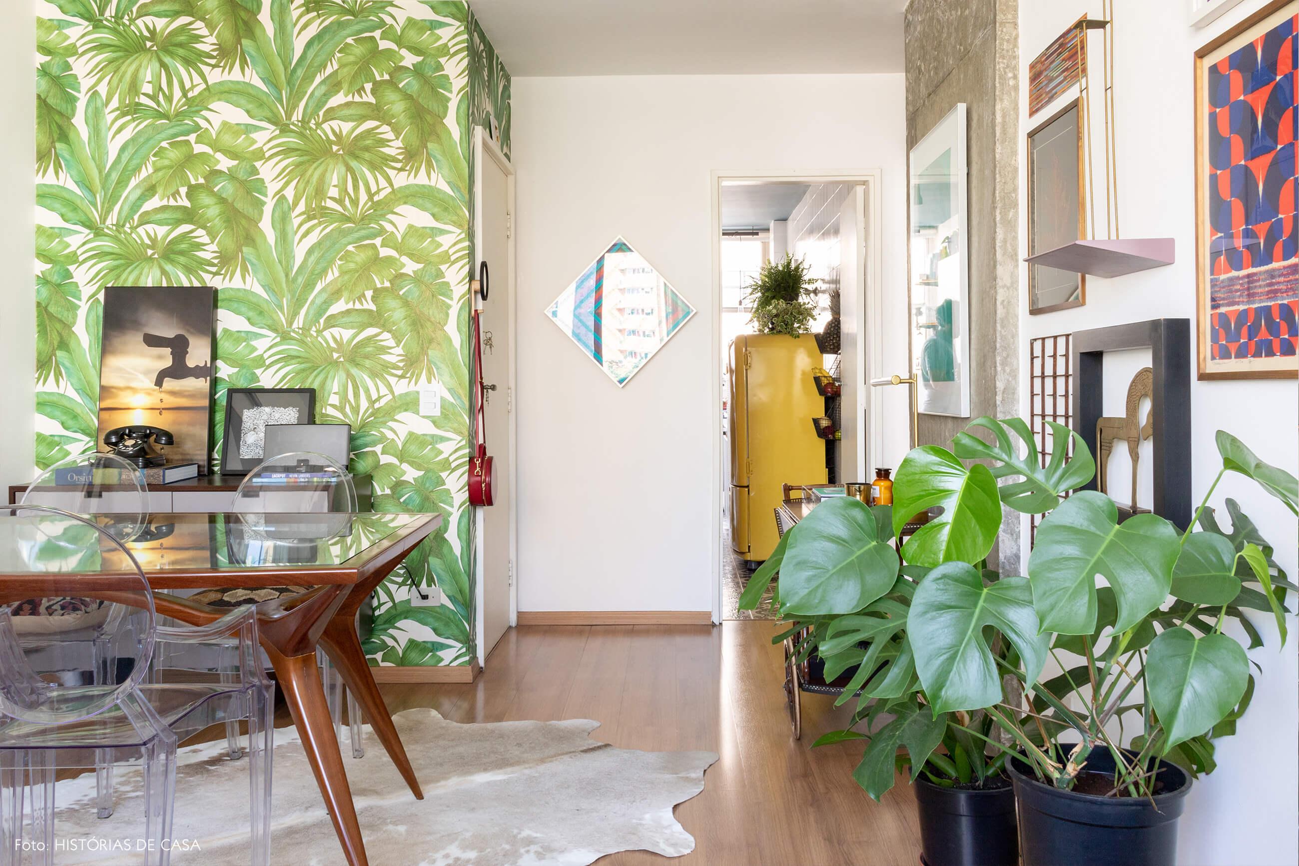 sala papel de parede plantas