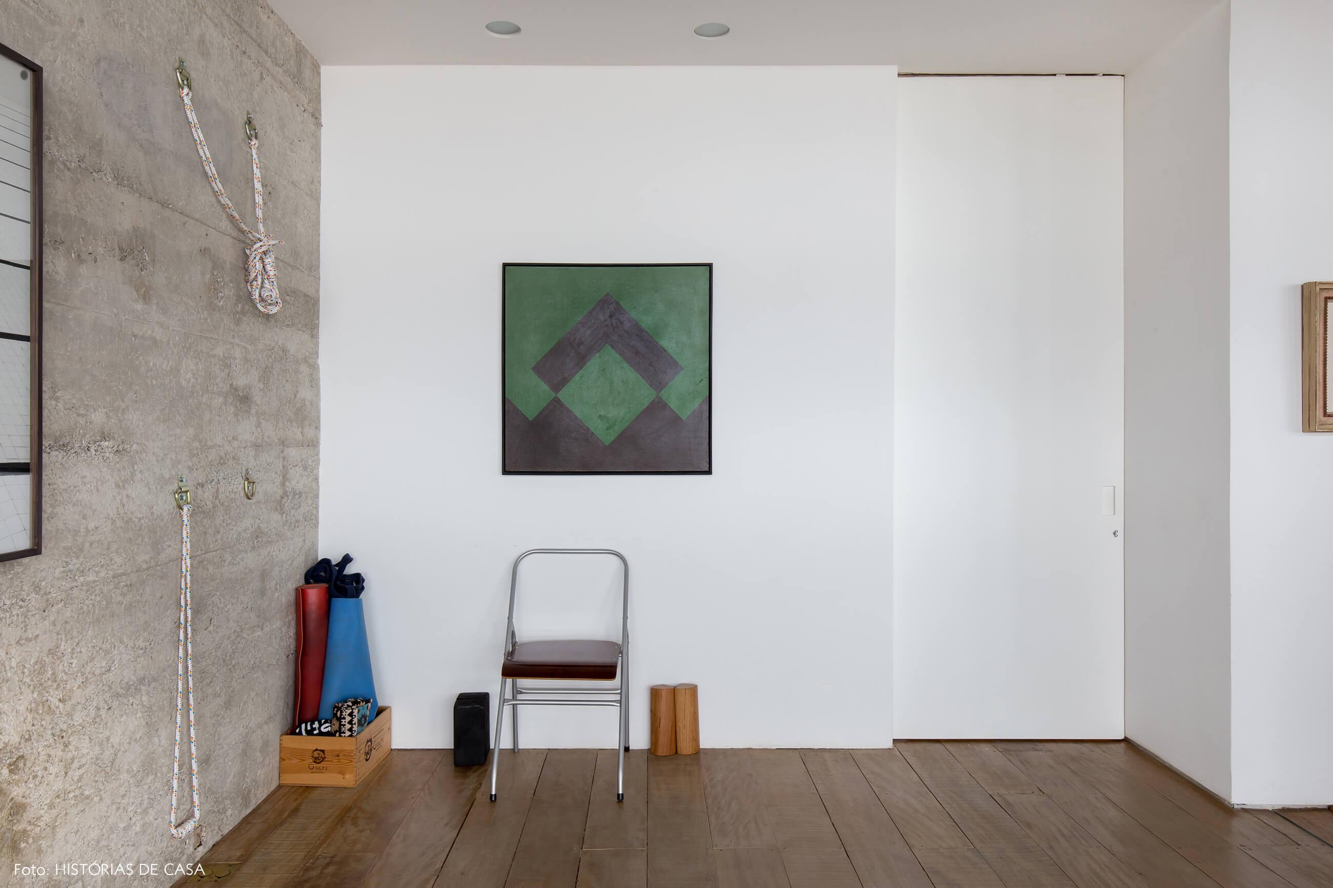 decoração copan parede concreto quadros sala yoga