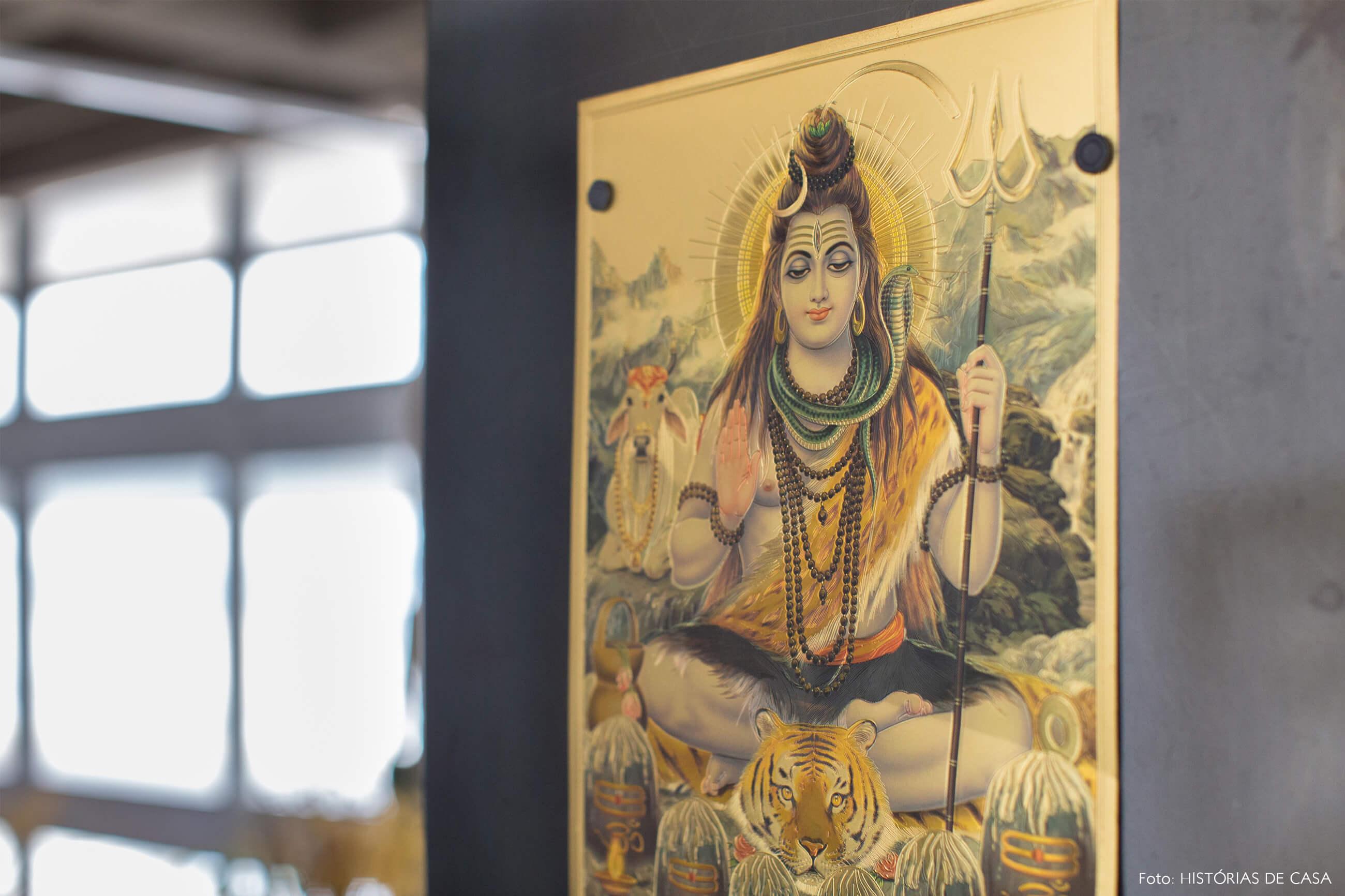 decoração copan ilustração indiana shiva
