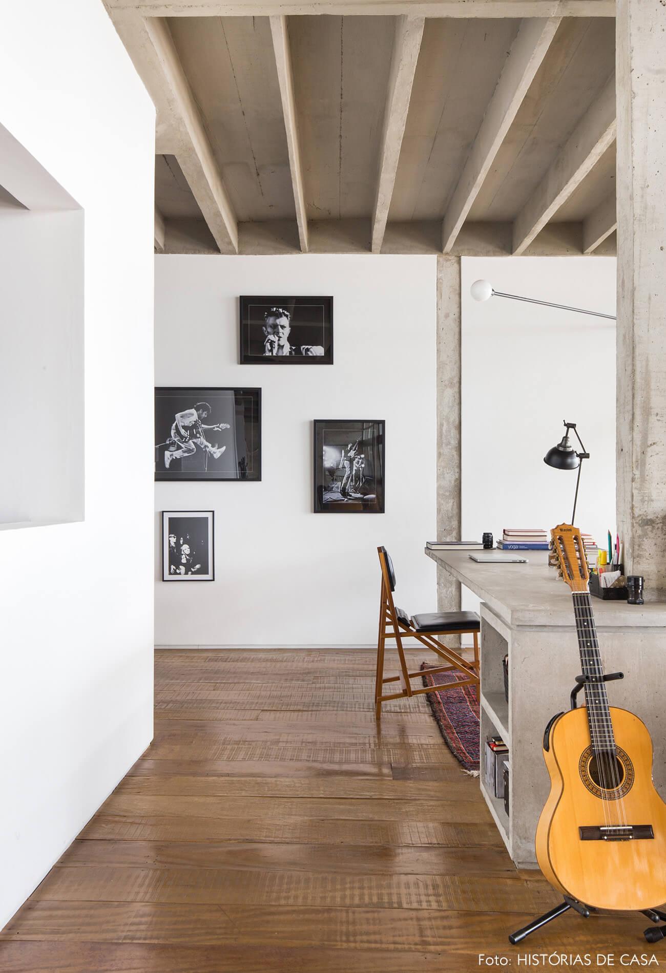 decoração copan colunas concreto violão cápsula branca quadros violão
