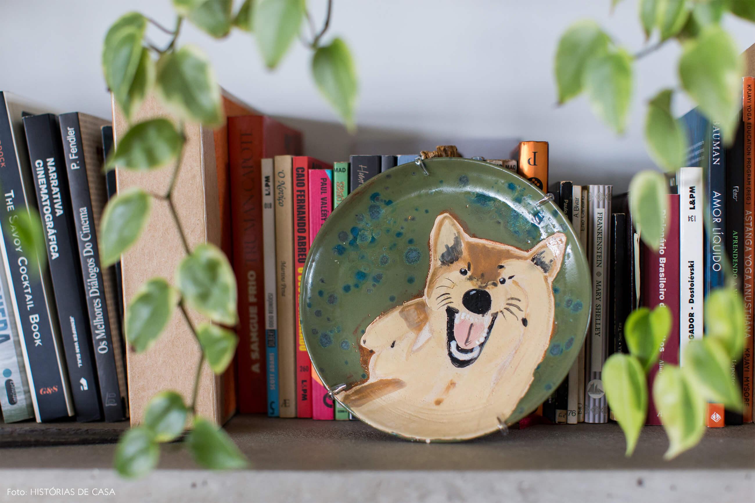 Ap decoração copan detalhe estante concreto prato decorativo com pintura