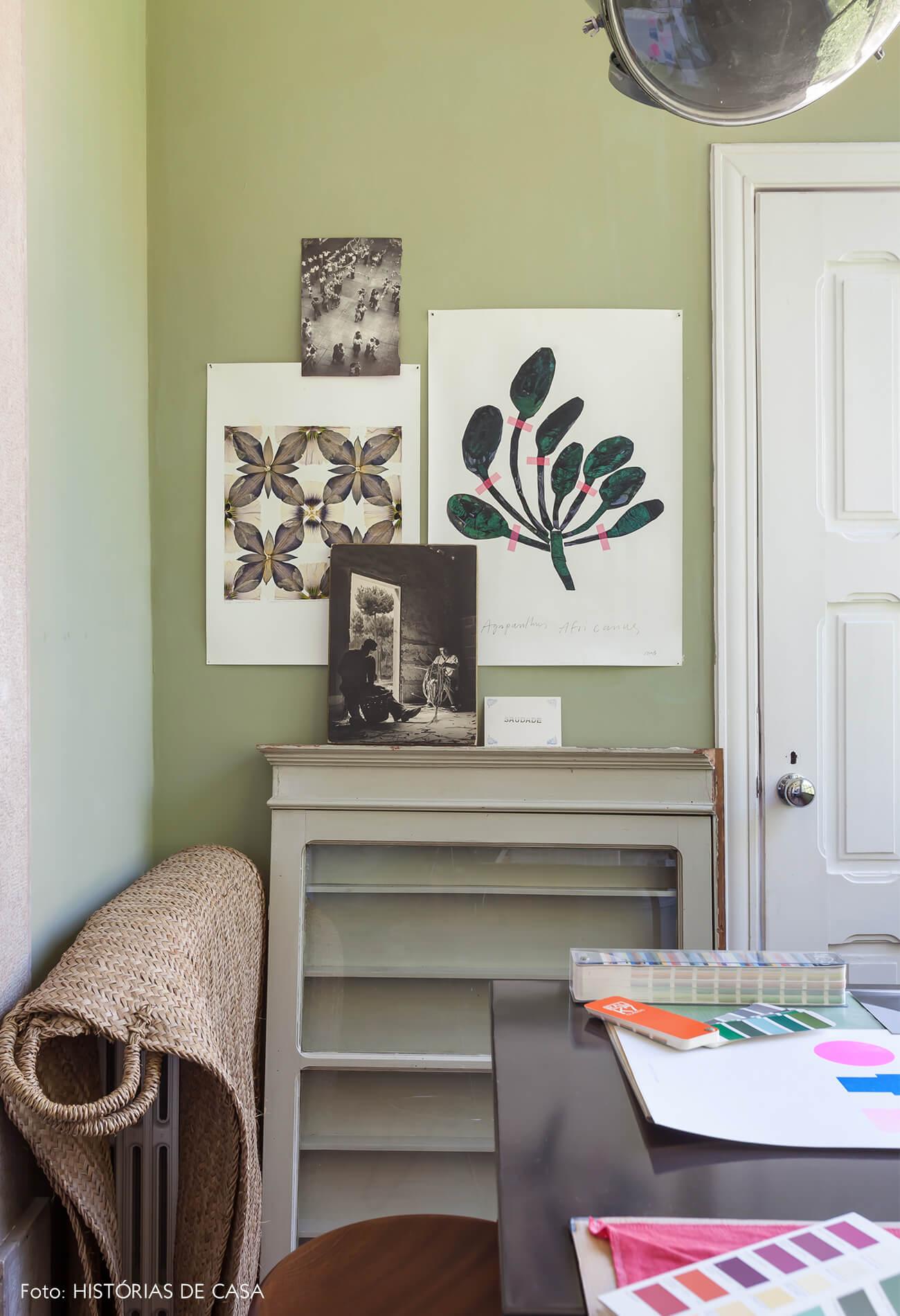 Ap decoração home office verde