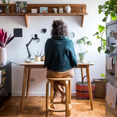 Apartamento da ilustradora Cynthia Gyuru