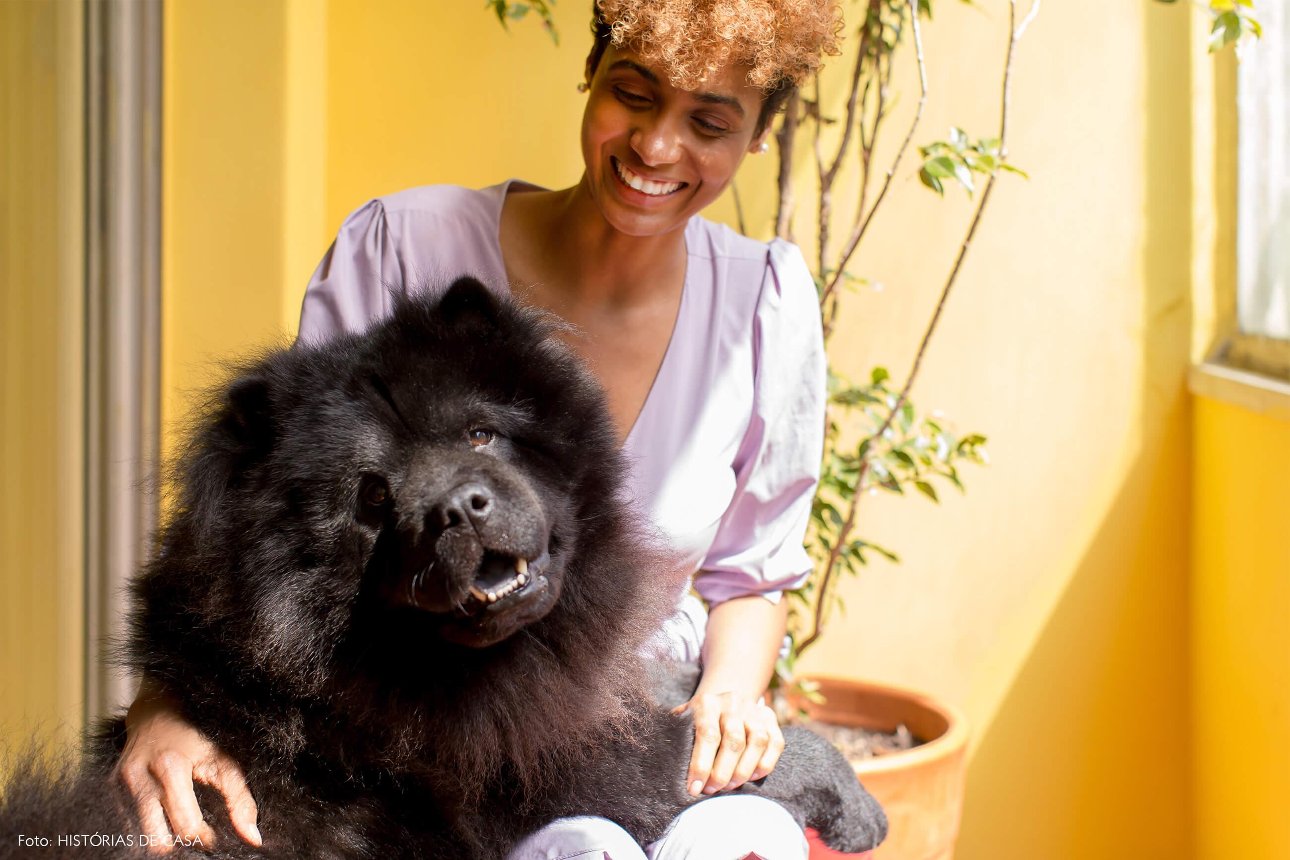retrato-pet-cachorro-parede-amarela-varanda-planta