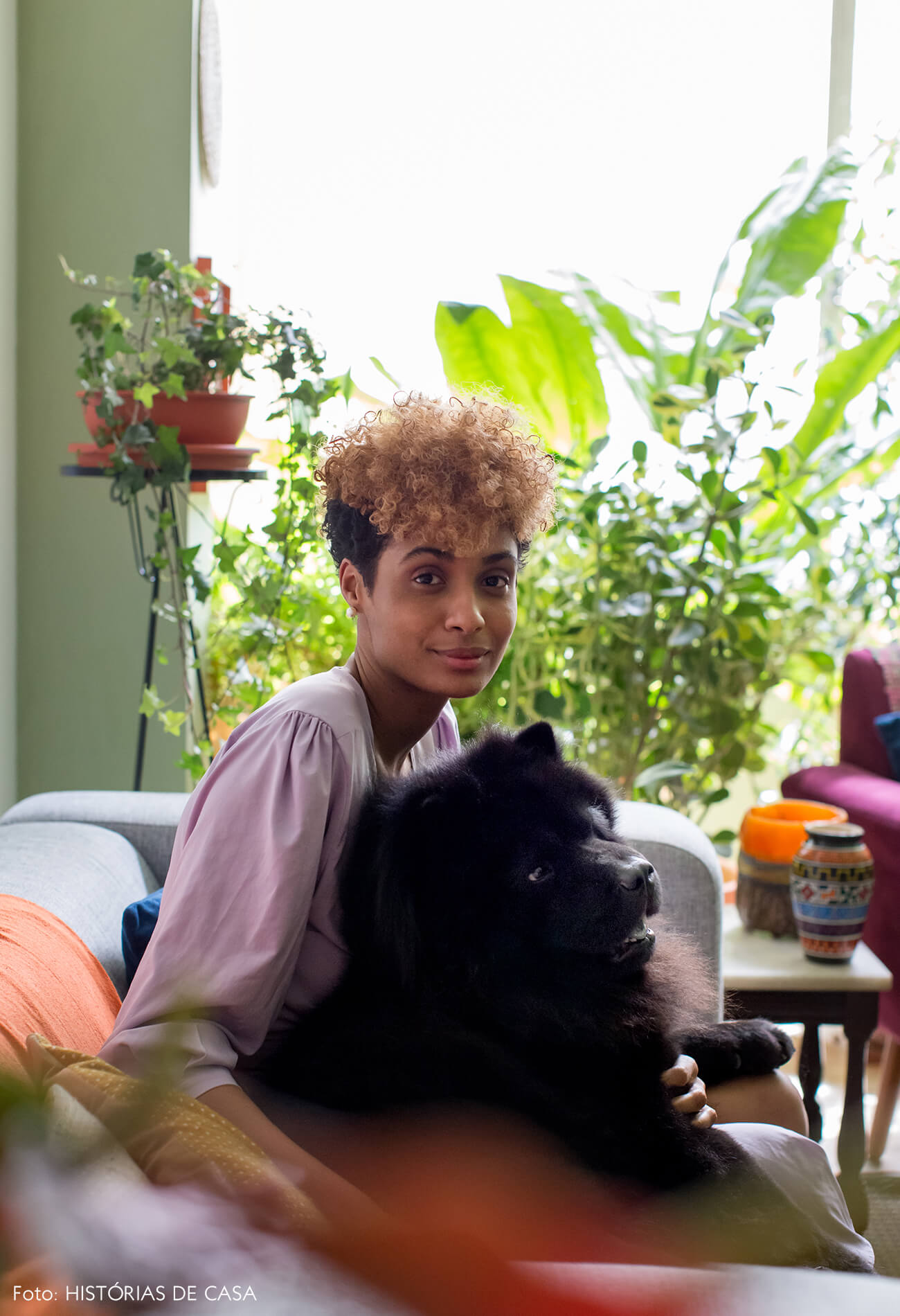 retrato-pet-cachorro-parede-verde-plantas