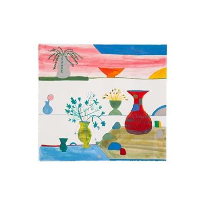 Vasos, plantas e pedras | Sandra Jávera