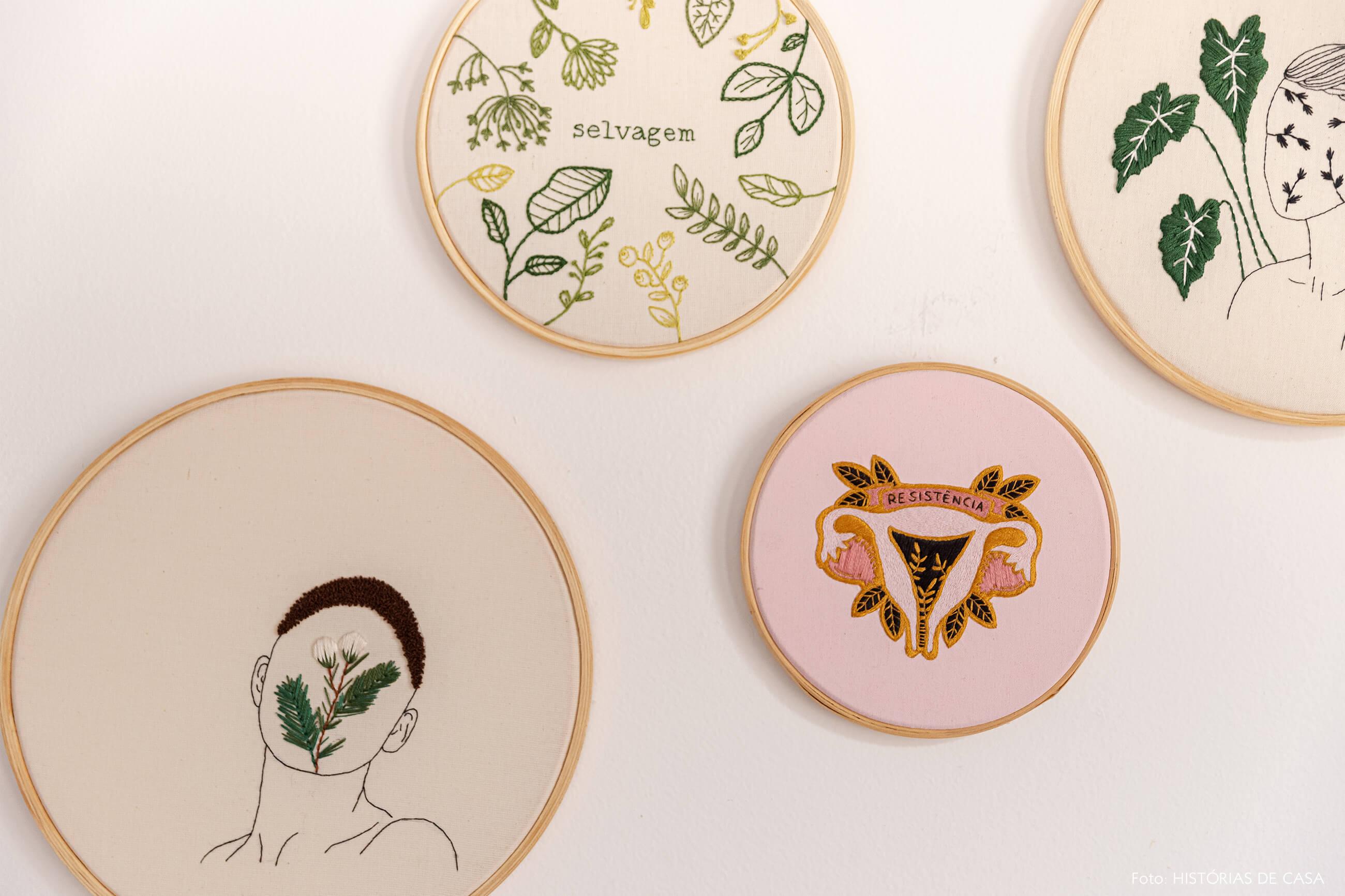 decoração-bastidores-bordados-na-parede