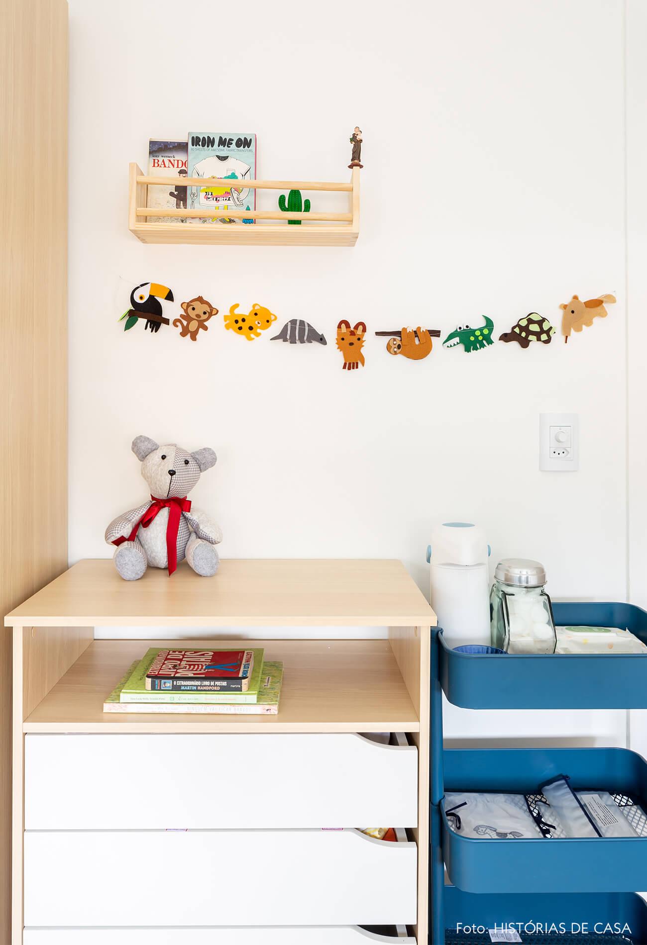decoração quarto infantil com carrinho azul