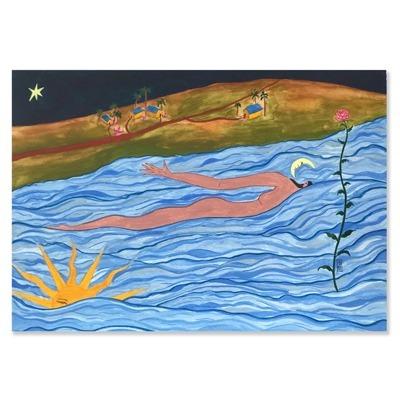 quadro pintura de mar