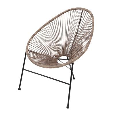 Cadeira Aço Acapulco 90x80cm Bege