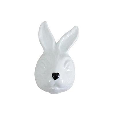 Máscara Coelho em Porcelana Cor Branca Nariz Preto