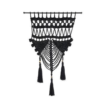 Tapeçaria decorativa preta