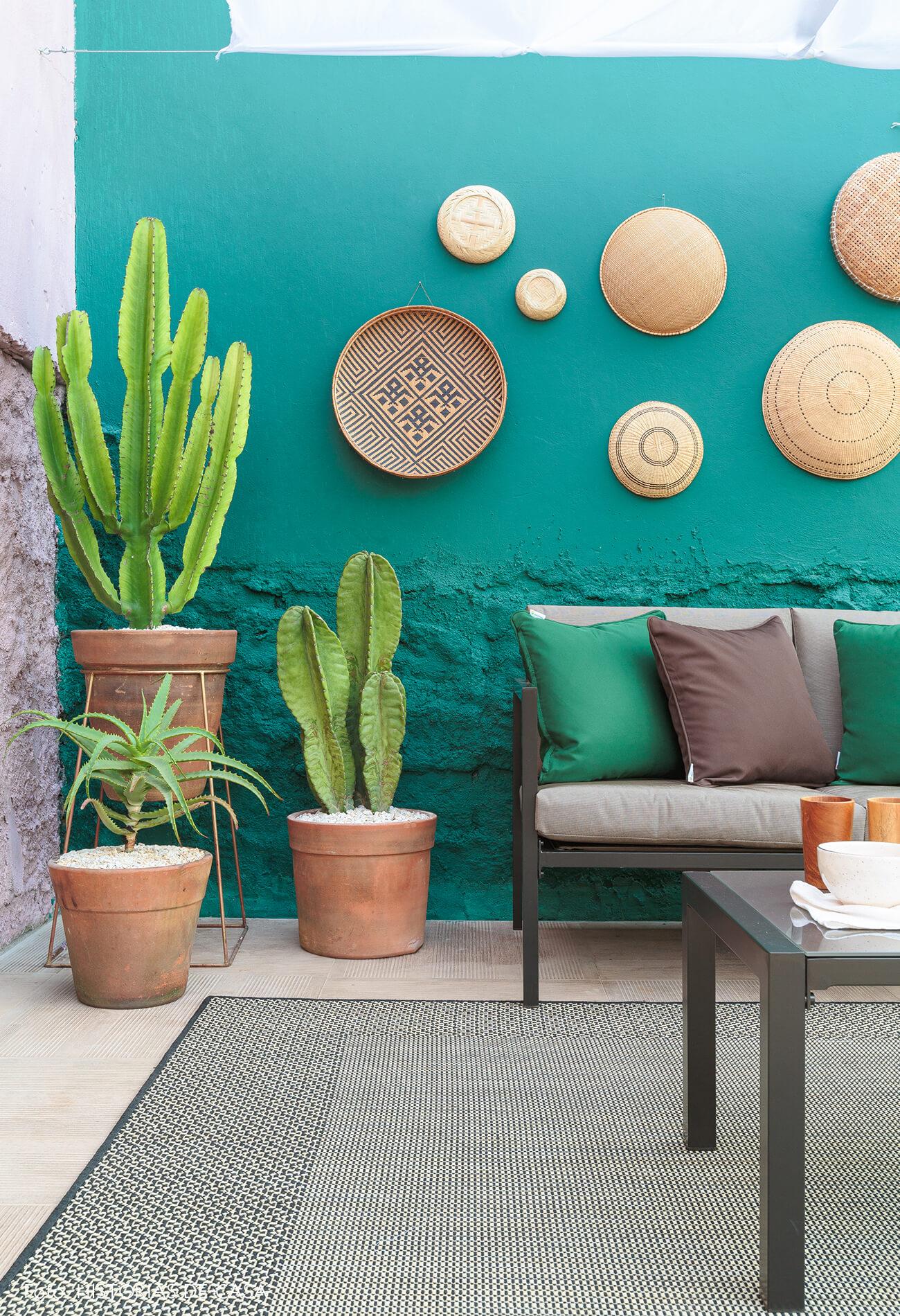 decoração antes e depois jardim leroy merlin parede rosa e verde