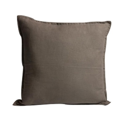 Capa almofada linho tinturado Cinza