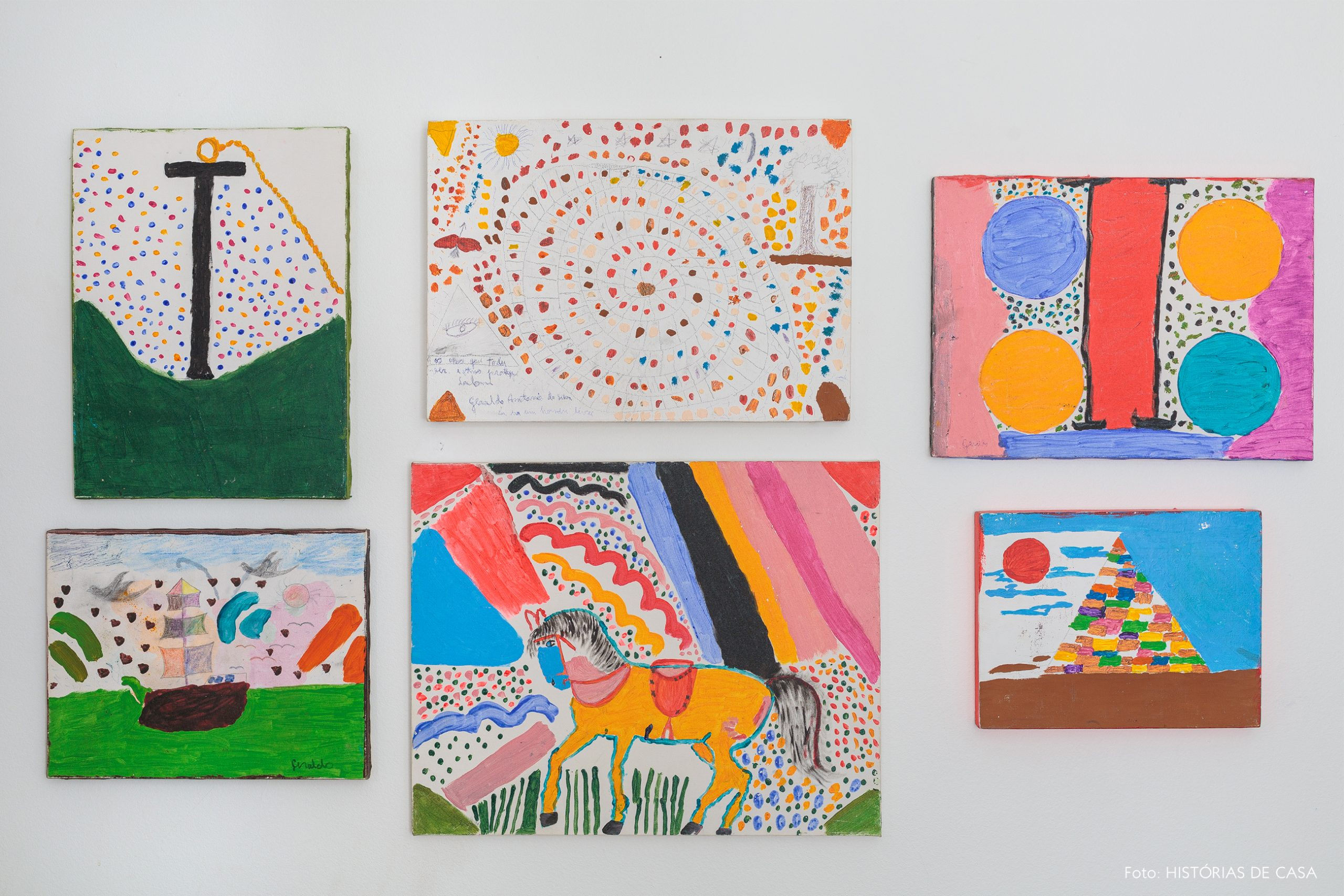 decoração pinturas coloridas